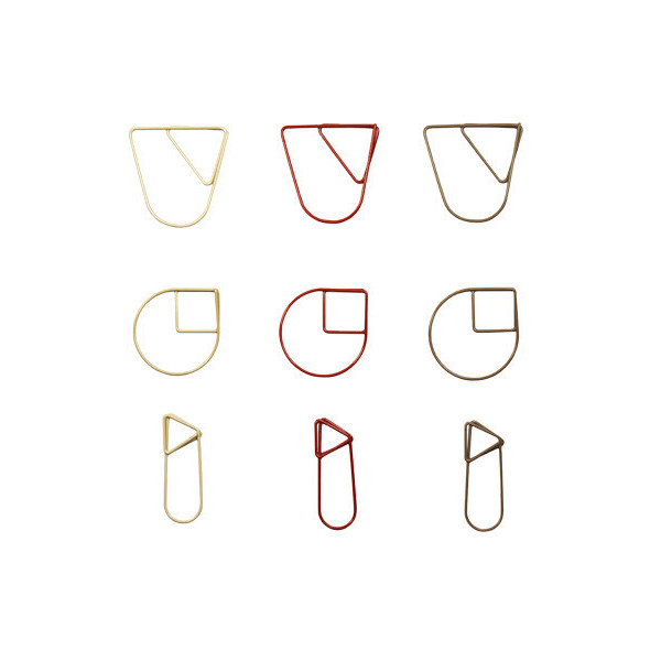 Paper Clips [Set of 3] Color: Red