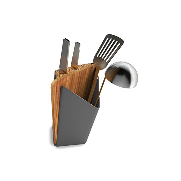 Black+Blum Forminimal Utensil / Knife Holder + Board (Grey)