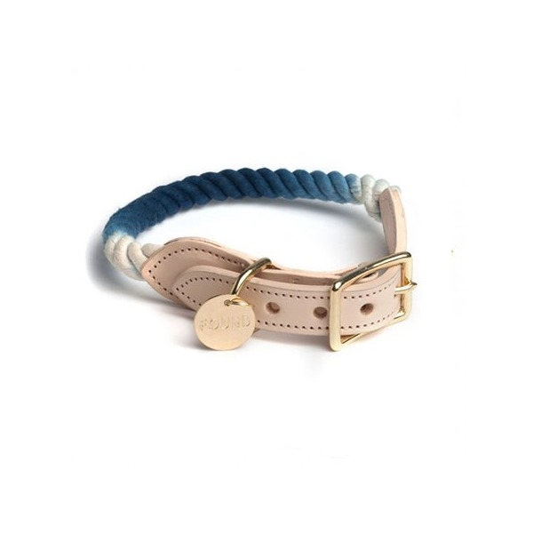 Found My Animal Rope Collar Indigo Ombre-Small
