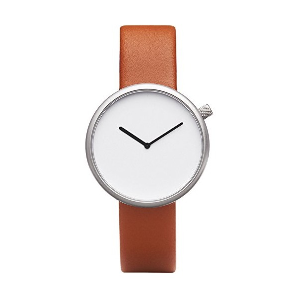 Bulbul Ore 03 Men's Watch - Matte Steel on Brown Italian Leather