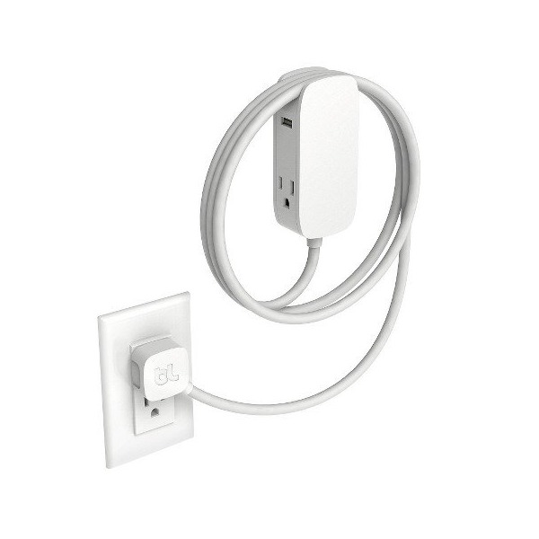 Bluelounge Portiko 6-foot extension cord, two 100V outlets and two USB ports