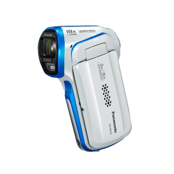 Panasonic HX-WA03 Dual Waterproof 16MP Digital Camcorder (white)
