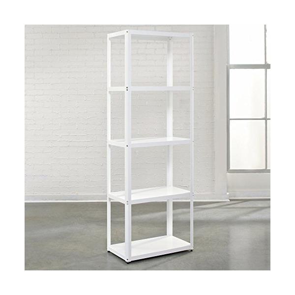 Sauder Soft Modern Tower Bookcase, Arctic White