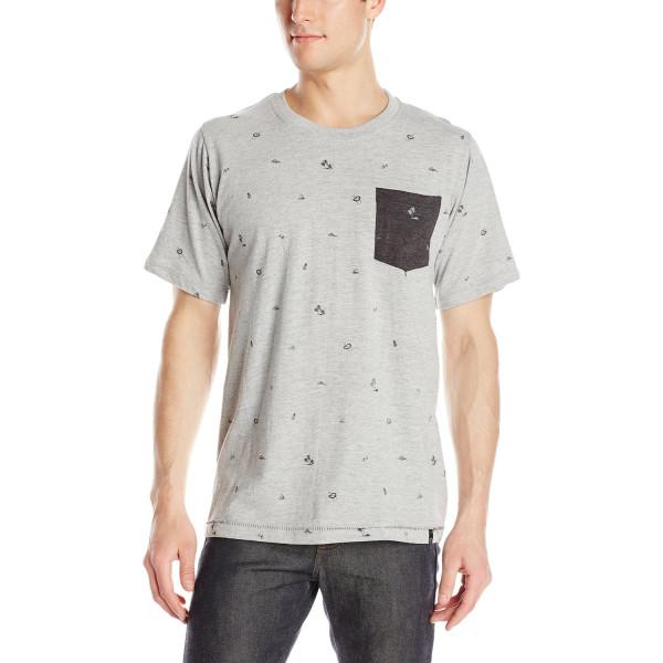 Burnside Men's Pineapple Express Knit T Shirt, Heather Grey, Large