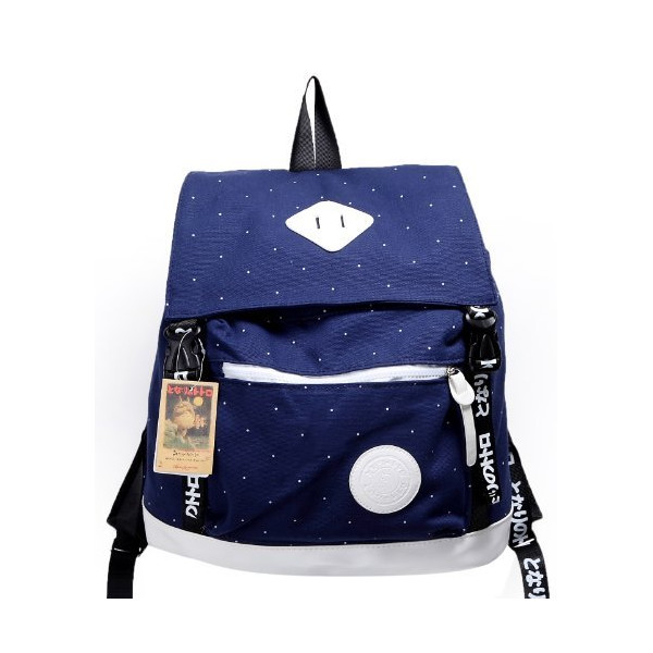 STUDIO GHIBLI My Neighbor Totoro Thickening Canvas Backpack School Bag - BLUE