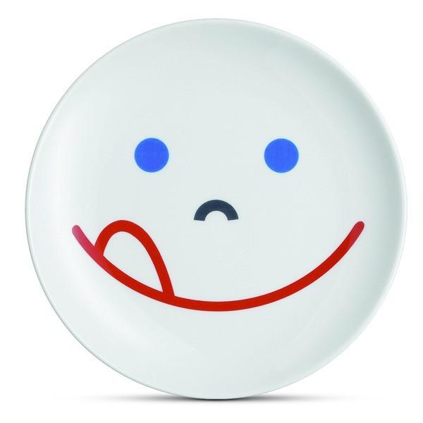 Mono Smile Porcelain Plate