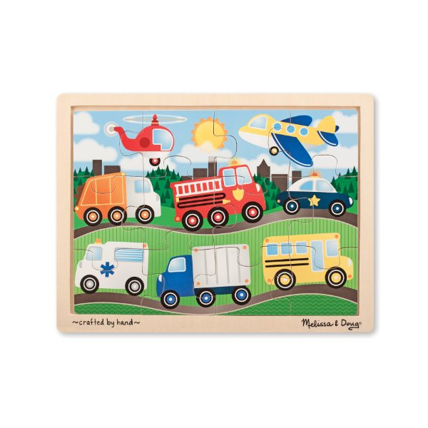 Melissa & Doug On The Road Jigsaw Puzzle (12-Piece)