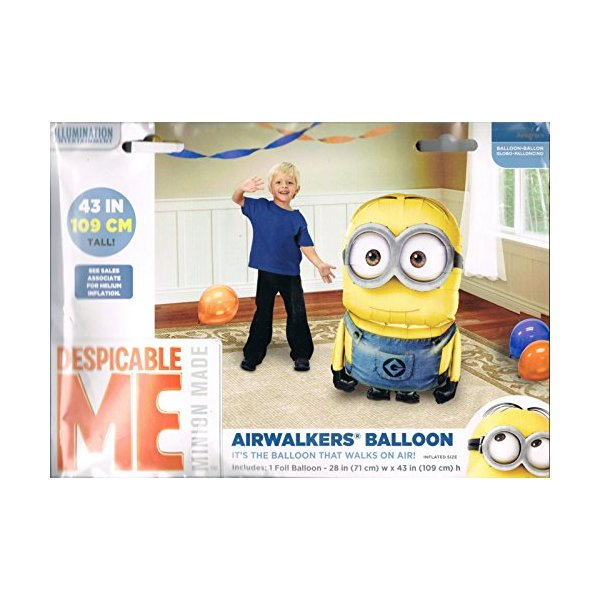 Despicable Me Minion Birthday Party Balloon 50 Inches Foil Balloon Air Walker