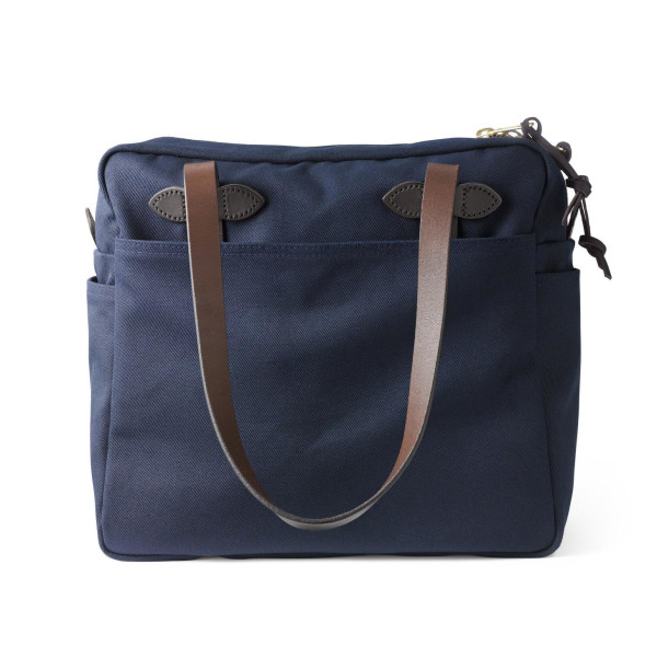 Filson Large Tote Bag with zipper Navy