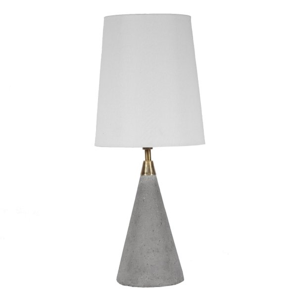 Contemporary Concrete Cone Accent Table Lamp