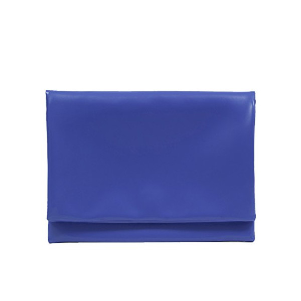 Zarapack Women's Large Fold Over Clutch Faux Leather Handbag Envelop It Bag (Blue)