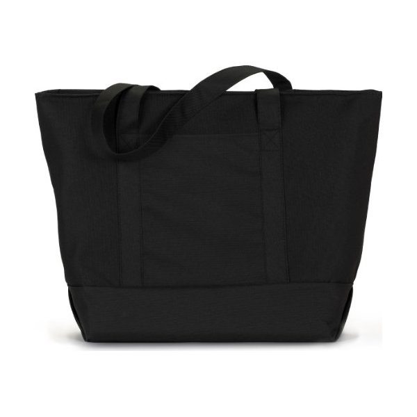 Liberty Bags - Bay View Zipper Tote - 7006 - One Size - Black/ Black