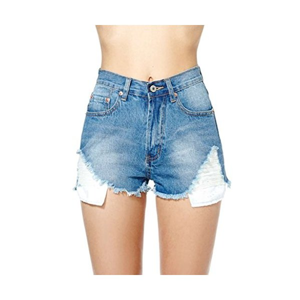 Womens Distressed Vintage Cutoff Shorts Levi Denim Shredded-L