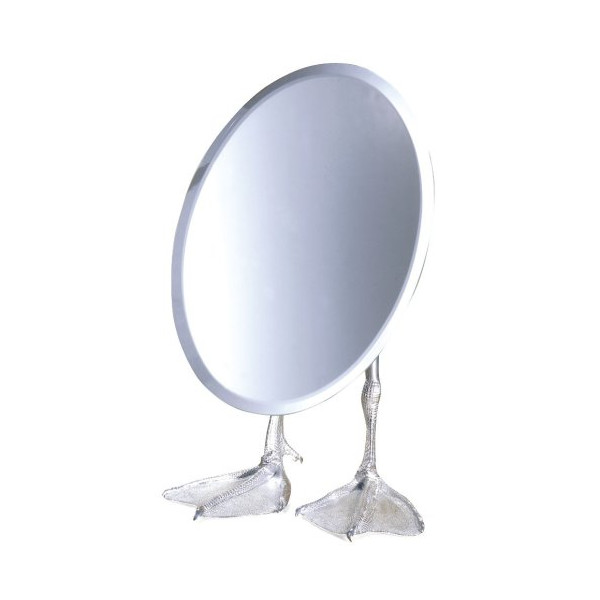 Kikkerland Duck-Footed Tabletop Vanity Mirror