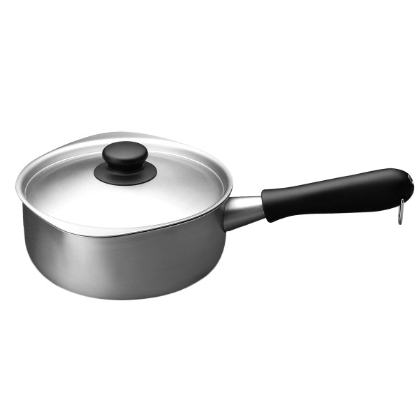 Brushed Stainless Steel Saucepan by Sori Yanagi
