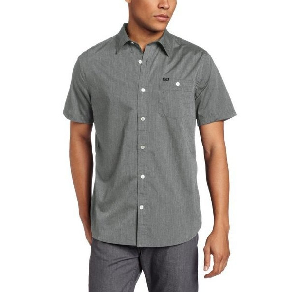 Hurley Men's Rise Solid Short Sleeve