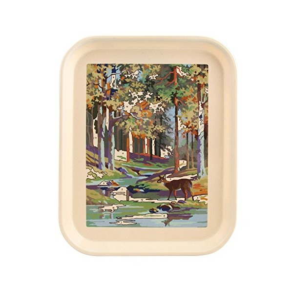 Fishs Eddy Deer Paint By Number Tray