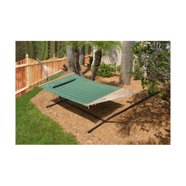 Smart Garden Monte Carlo Double Quilted Hammock, Elm Green 52325-EGP