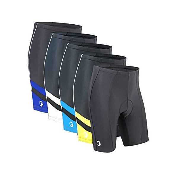 Tenn Mens 8 Panel Cycling Shorts with Professional Moulded Pad - Black S