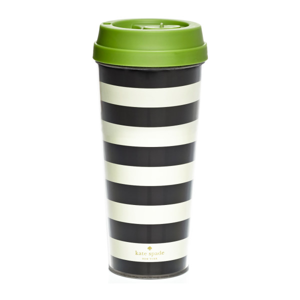 kate spade new york Thermal Mug - Black Stripe