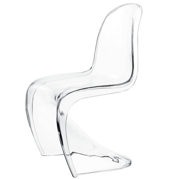 LexMod Clear Panton Style Chair For Kids