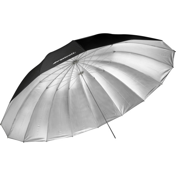 7-Feet Silver Parabolic Umbrella