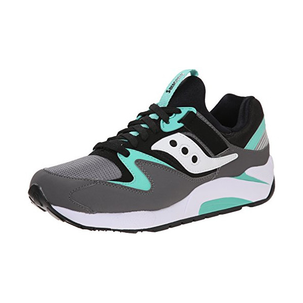 Saucony Originals Men's Grid 9000 Retro Shoe, Grey/Black/Mint, 9 M US
