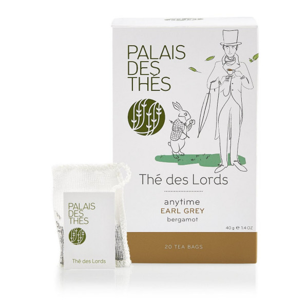 Palais des Thés Thé des Lords, Earl Grey Tea with Bergamot, 20 Tea Bags