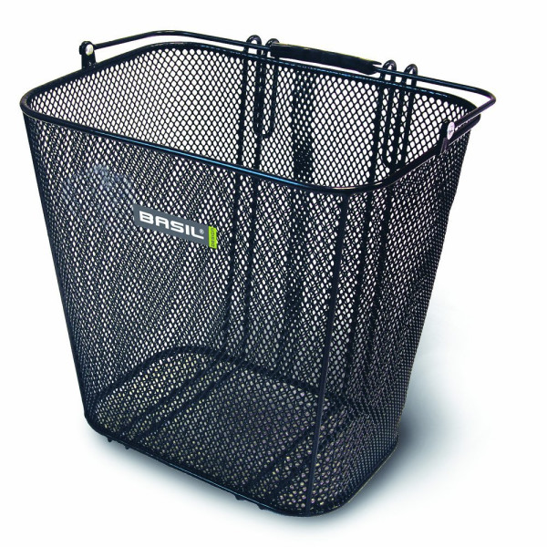 Basil Cardiff Rear Basket, Black