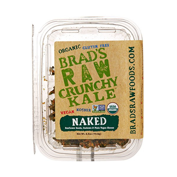Brad's Raw Crunchy Kale, Naked, 2.5 Ounce