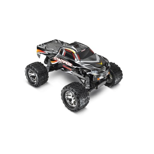 Traxxas Stampede 1/10 Scale Monster Truck with TQ 2.4GHz Radio System, Black