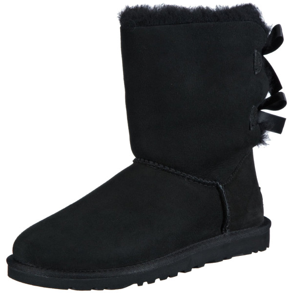 UGG Australia Womens Bailey Bow Boot Black Size 8