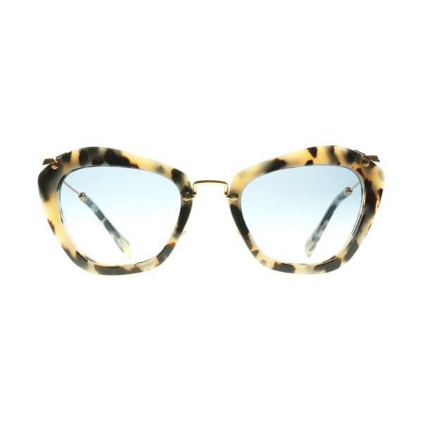 Miu Miu Light Havana Cats Eyes Sunglasses