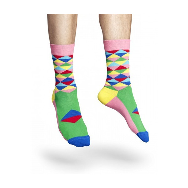 Happy Socks Men's The Triangle Socks One Size Pink