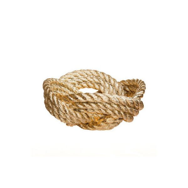 Areaware Knotted Rope Bowl, Gold