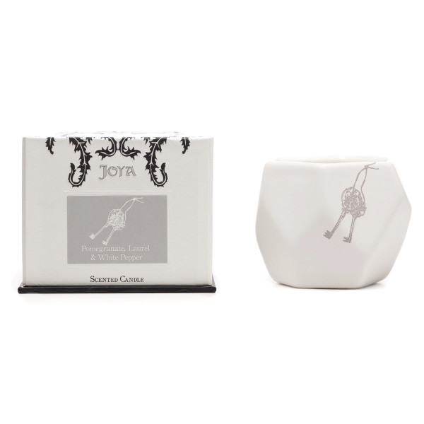 Joya Pomegranate, Laurel & White Pepper, Soy+Beeswax Blend Candle