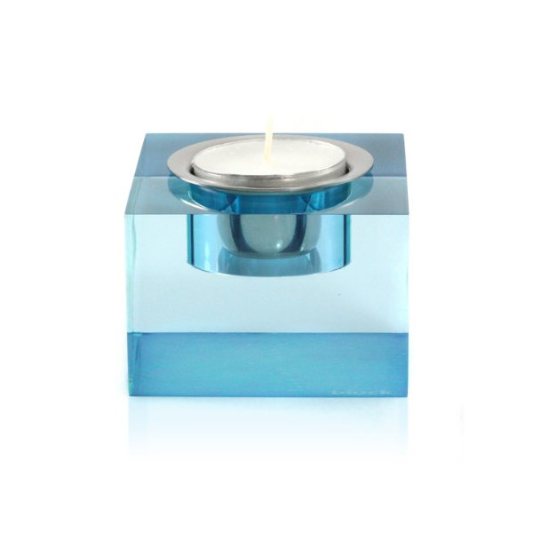 Block Cube Tea-Light Holder, Blue