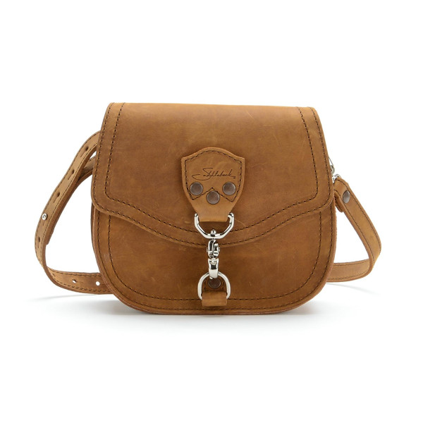 Saddleback Leather Mini Hobo Crossbody Purse, Tobacco Brown