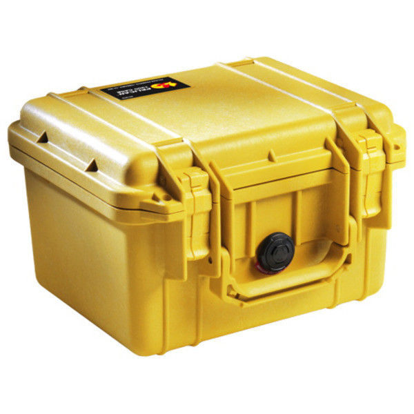 Pelican 1300 Case with Foam for Camera, Yellow