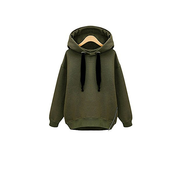 Fiream Women'S Oversize Pullover Hoodie Sweat Shirt(Army Green,US 12-14)