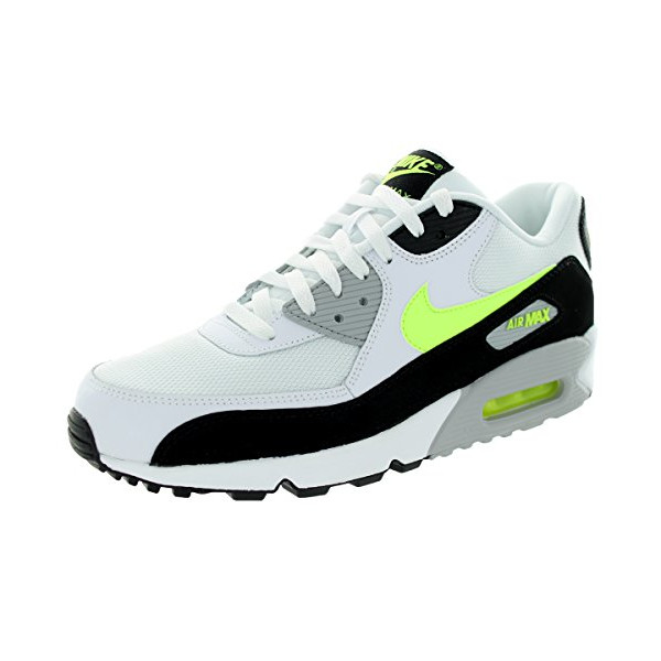 Nike Men's Air Max 90 Essential White/Volt/Black/Wolf Grey Running Shoe 9 Men US