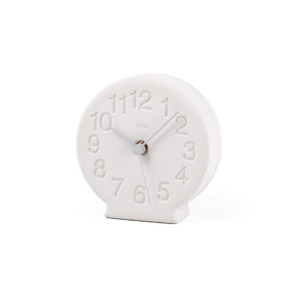 Lemnos diatomaceous earth of table clock white NY13-15 WH