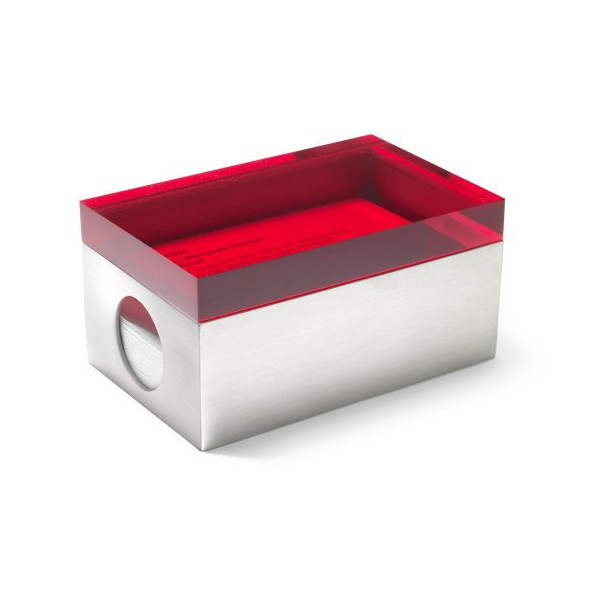 MoMA Page 1 Business Card Box, Red Lid