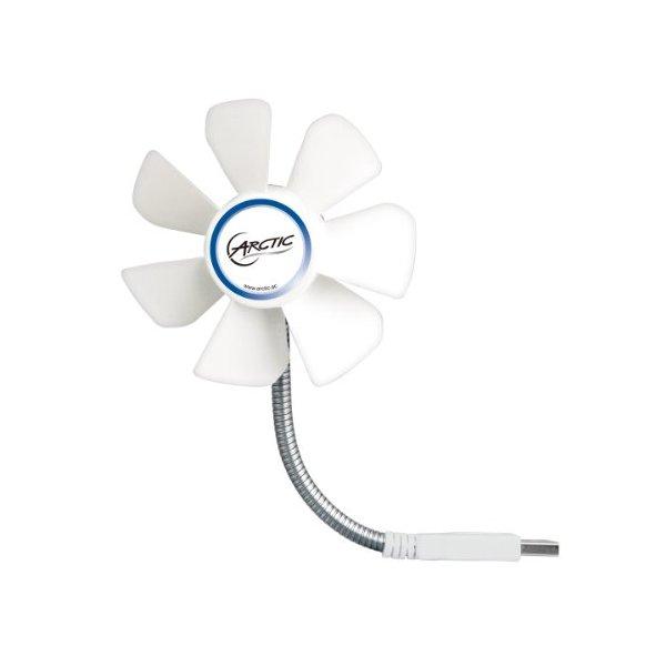 ARCTIC Breeze Mobile USB-Powered 92mm Portable Fan, Portable Cooling Solution, Quiet Fan - White