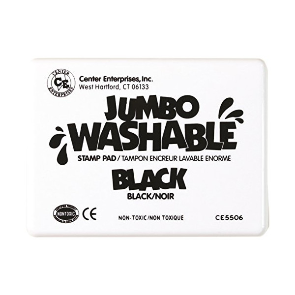 Center Enterprise CE5506 Jumbo Washable Stamp Pad, Black