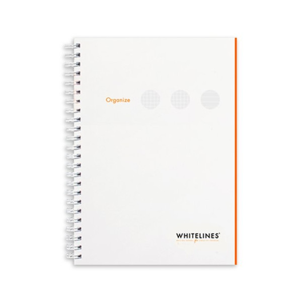 Whitelines Organize A5 SSL Notebook, White