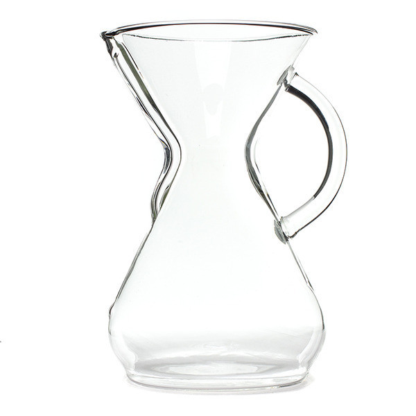 Chemex Six Cup Glass Coffee Maker with Glass Handle, 30oz