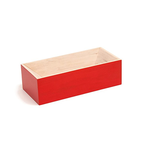 Les Briques Wooden Storage Box - Red