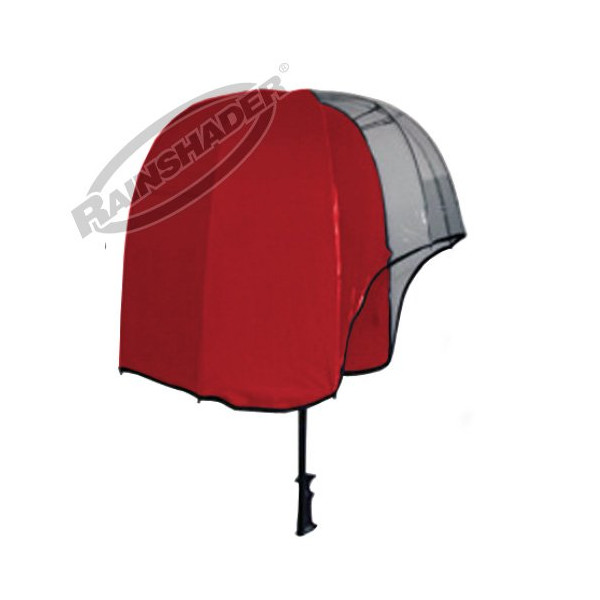 Rainshader Designer Umbrella Sports Viewing Outdoors (Red Panoramic Rainshader Umbrella)