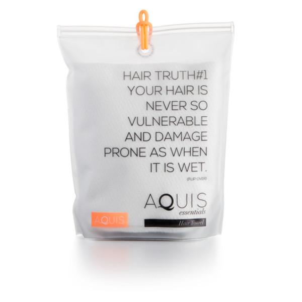 Aquis Microfiber Hair Towel, Lisse Crepe, White